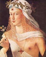 Painted reputed to be of Lucrezia Borgia
