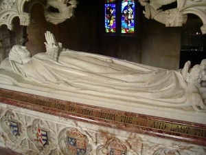 Catherine Parr&#039;s tomb at the chapel at Sudeley 