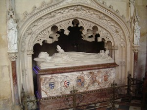 Catherine Parr's tomb in the chapel at Sudeley