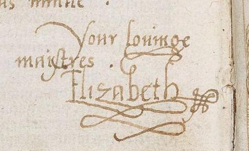gallery queen elizabeth i signature